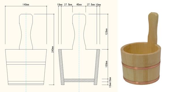手付きひのき湯桶