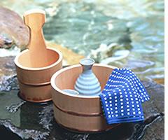 手付きひのき湯桶(ステンレスタガ)
