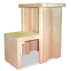 檜 折りたたみ踏み台(無塗装)
