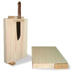 檜 まな板(包丁立て付)