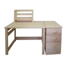 学習机・勉強机・デスクセット1400 木曾檜(ひのき)節なし材