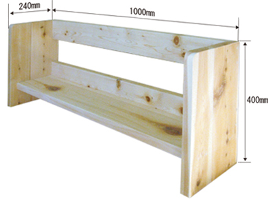 上置き本棚 木曾檜(ひのき)板目節材