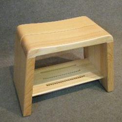 檜(ひのき)風呂椅子(癒し)L