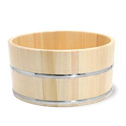 ひのき湯桶(ステンレスタガ)【無塗装】