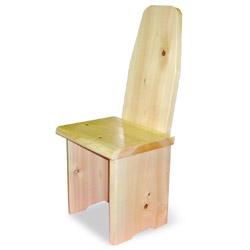 檜 背もたれ付き椅子(クリアー塗装)
