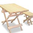 檜 ガーデニングテーブル3点セット(折りたたみ式)
