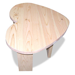 檜(ひのき)ハート型テーブル
