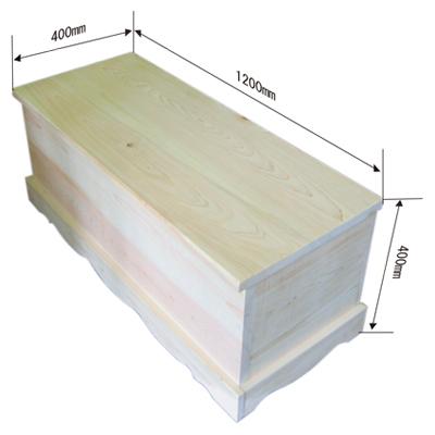 ベンチボックス 木曾檜(ひのき)節なし材