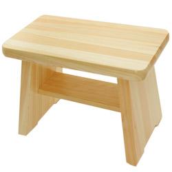 ひのき風呂椅子(脚ゴム付き)【無塗装】