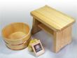 檜(ひのき)のお風呂セット【香り】(銅タガ)