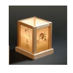 檜(ひのき)ミニ行灯(あんどん)(キャンドル)